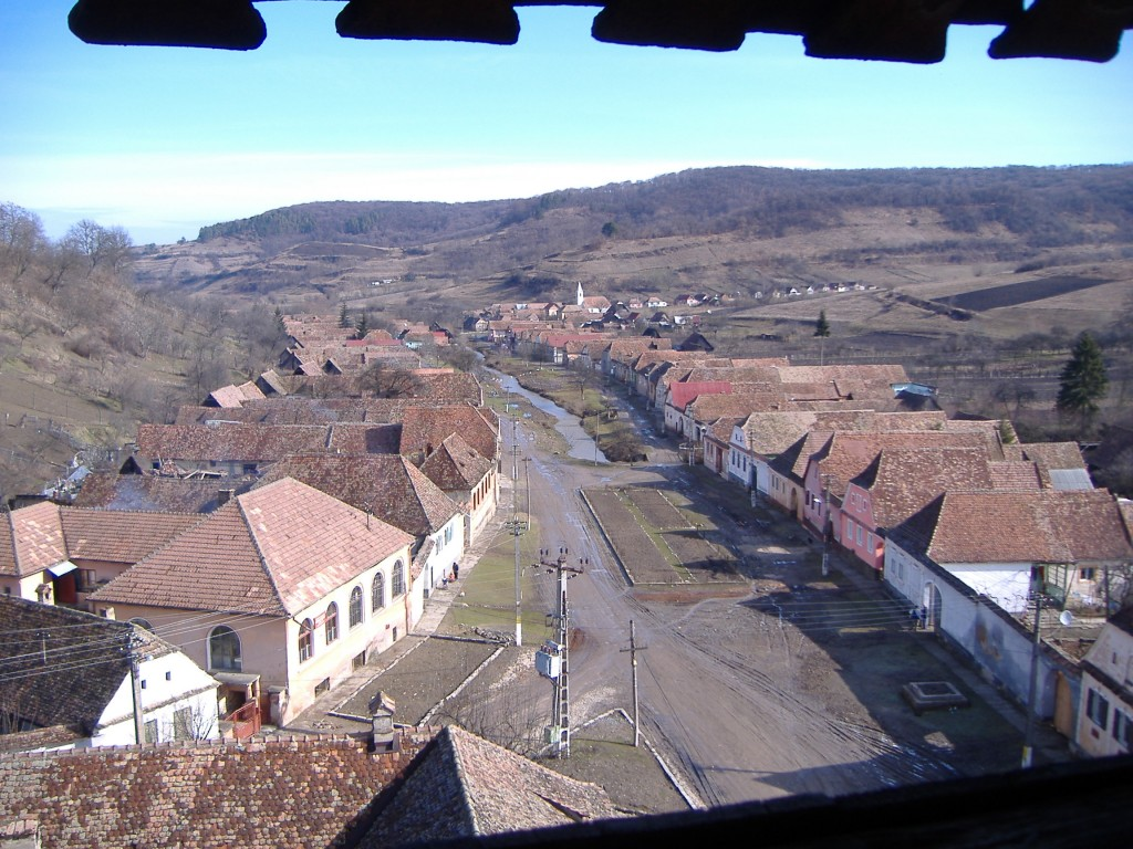 Saxon Village - View from fortified church tower