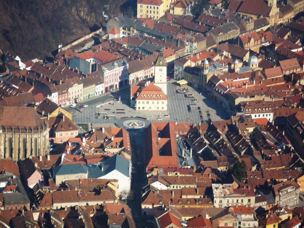 Old Town Brasov - as seen from Tampa Mountain