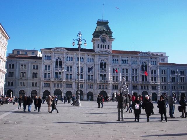 The imposing Palazzo del Municipio (Municipal building) on the Piazza Unita d'Italia