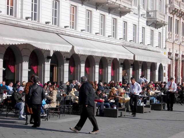 Along Piazza Unita d'Italia