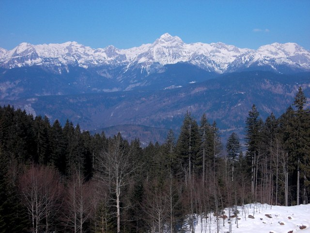 Julian Alps with Mt. Triglav in background