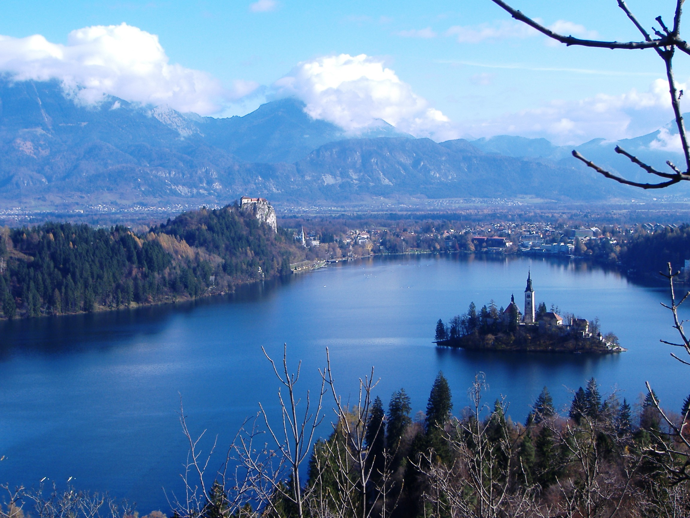 Classic panorama of Lake Bled - as viewed from Mala Osojnica