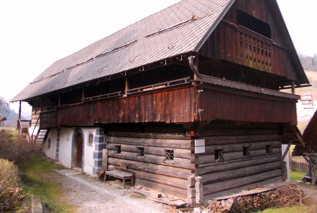 Nace's House: a perfectly-preserved mid-18th century house--with remaining features from its 15th century origins. An important National Cultural monument. In Puštal, a village directly adjacent to Škofja Loka