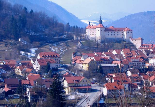 View over Škofja Loka - from Cerkev na Hribcu ('church on the little hill')