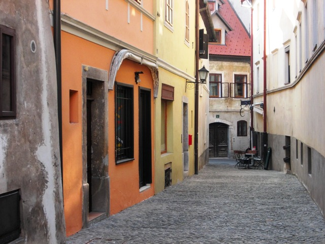 Typical (tidy) Medieval streets of Škofja Loka