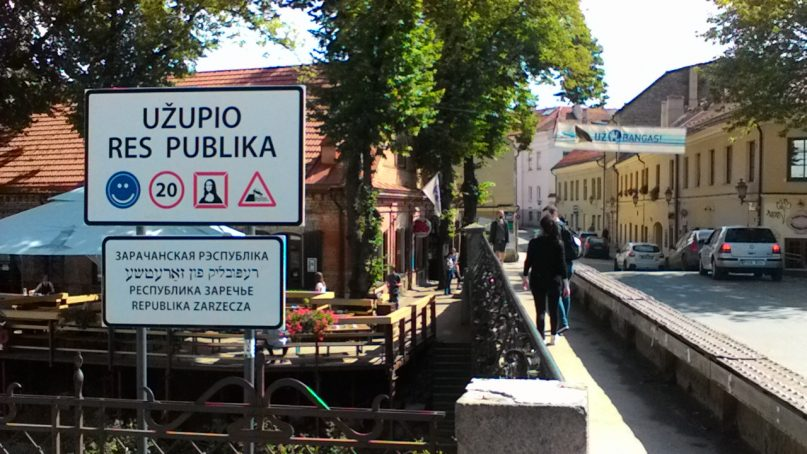 """Republic"" of Užupis - 'horse's entry"