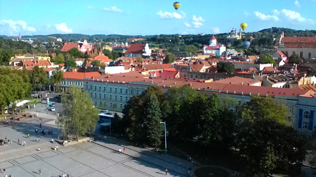 View from Vilnius Cathedral Bell Tower